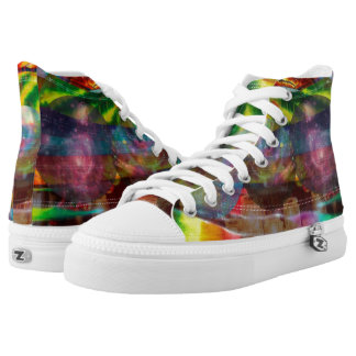 Trendy Tie Dye Colorful High top shoes