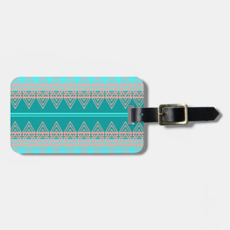 Trendy Tribal Chevron Pattern Geometric Design Art Luggage Tag