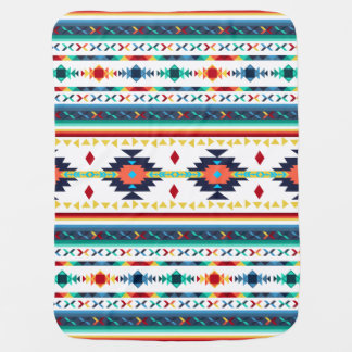 trendy tribal ethnic Navajo geometric pattern Baby Blanket