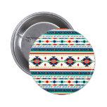 trendy tribal ethnic Navajo geometric pattern 6 Cm Round Badge