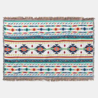 trendy tribal ethnic Navajo geometric pattern Throw Blanket