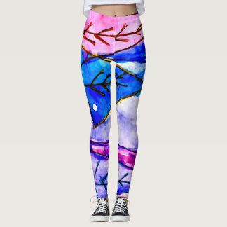 Trendy Tribal Watercolor Leggings