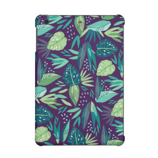 Trendy Tropical Green Leafs Seamless Pattern