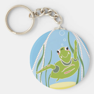 Trendy Turtle Basic Round Button Key Ring