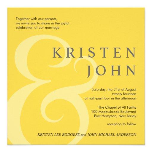 Trendy Typography Modern Wedding Invitations