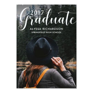 Trendy Typography | Photo Graduation Party Card