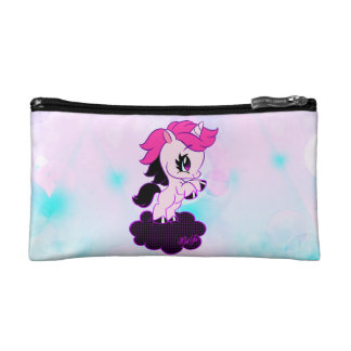 Trendy Unicorn On-The-Go Cosmetic Bag | Both Sides