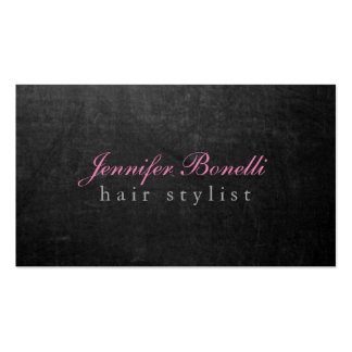Trendy Unique Grey Chalkboard Hairdresser Modern Pack Of Standard Business Cards