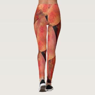 trendy unique  Marble red Leggings