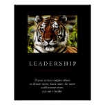 Trendy Unique Motivational Leadership Tiger Poster