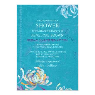 Trendy, Unique Mum Floral Wedding Shower Invites