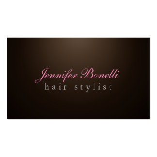 Trendy Unique Sepia Brown Hairdresser Modern Pack Of Standard Business Cards