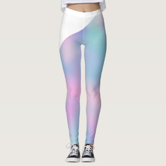 Trendy vaporwave color leggings