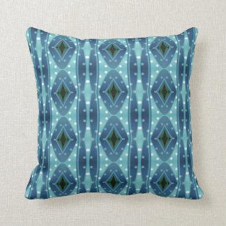 Trendy vertical blue pattern cushion