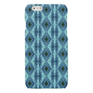 Trendy vertical blue pattern iPhone 6 plus case