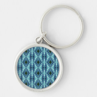 Trendy vertical blue pattern key chains