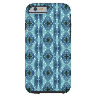 Trendy vertical blue pattern tough iPhone 6 case
