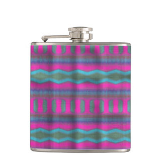Trendy vertical pattern hip flask