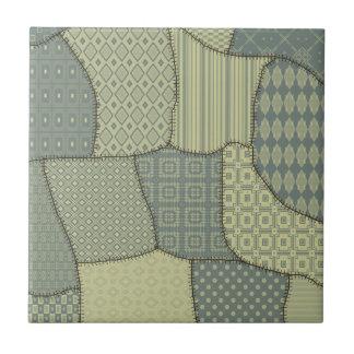 Trendy vintage cute patchwork tiles