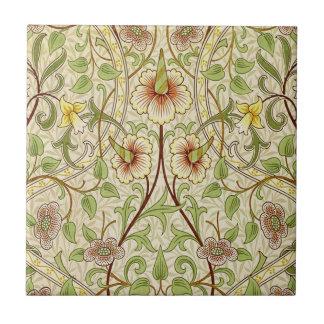 Trendy Vintage Decorator Floral Wallpaper Daffodil Tiles