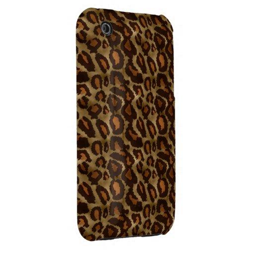 Trendy Vintage Leopard Print Pattern iPhone 3G iPhone 3 Cases