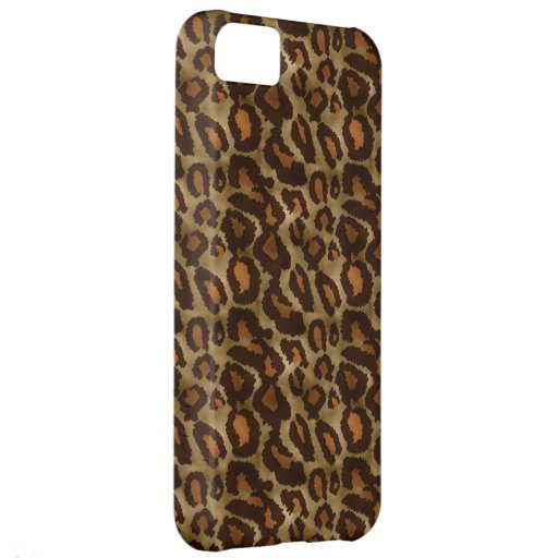 Trendy Vintage Leopard Print Pattern iPhone 5 Cover For iPhone 5C