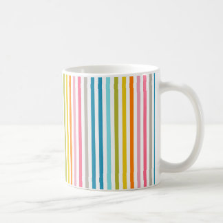 Trendy Vintage Pastel Colors Stripes Coffee Mug