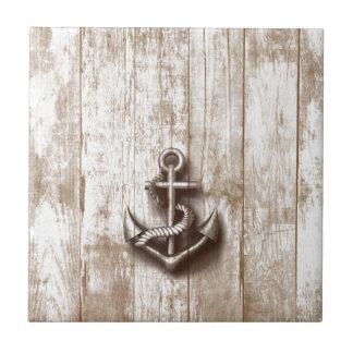 Trendy vintage rustic nautical anchor tiles