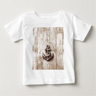 Trendy vintage rustic nautical anchor shirt