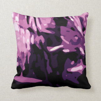 Trendy Violet Purple Pink Camo Abstract Pattern Cushion