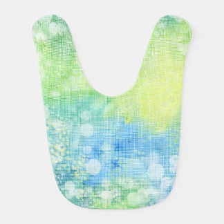Trendy Watercolor Blue Breeze Baby Bib
