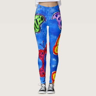 Trendy Watercolor Butterflies Leggings