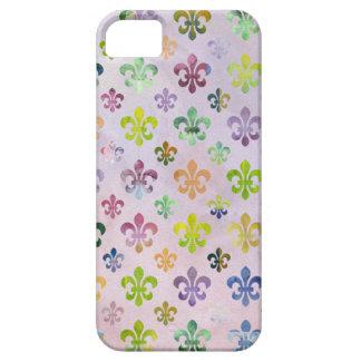 Trendy Watercolor Painting Fleur De Lis Pattern iPhone 5 Cover