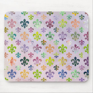 Trendy Watercolor Painting Fleur De Lis Pattern Mouse Mat