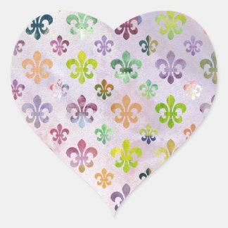 Trendy Watercolor Painting Fleur De Lis Pattern Stickers
