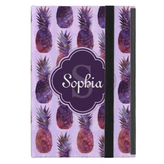 Trendy Watercolor Pineapple Pattern iPad Mini Case