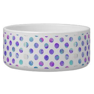 Trendy Watercolor Pink, Aqua, and Purple Polka Dot
