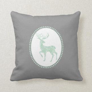 Trendy Watercolor Reindeer Christmas Cushion