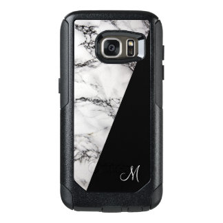 Trendy White Gray And Black Marble Stone Texture OtterBox Samsung Galaxy S7 Case