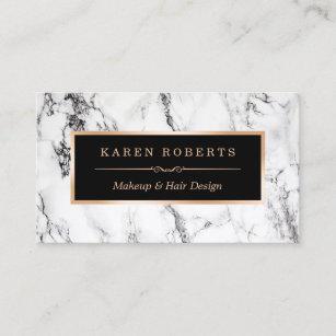 Makeup artist business cards zazzle uk trendy white marble makeup artist hair salon business card colourmoves