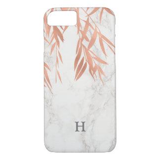 Trendy White Marble Monogram iPhone 8/7 Case