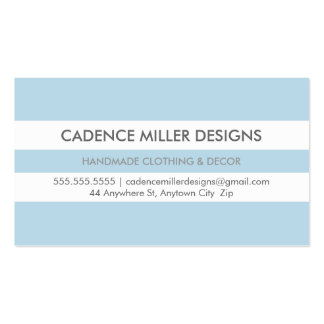 TRENDY WIDE STRIPE modern minimal bold baby blue Pack Of Standard Business Cards