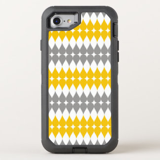 Trendy Yellow And Gray Tear Drop Pattern OtterBox Defender iPhone 7 Case