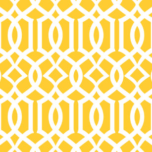 Trendy Yellow And White Moroccan Trellis Pattern Cushion