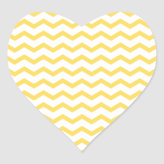 Trendy Yellow Chevron Pattern Stickers