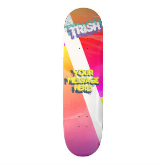 Trendy Yellow Gold Magenta Skateboard
