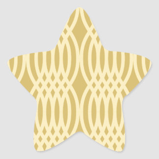 Trendy Yellow & Gold Moroccan pattern Stickers