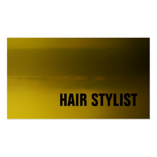 Trendy Yellow Green Modern Hair Stylist Pack Of Standard Business Cards