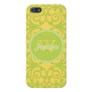 Trendy Yellow & Lime Green Pattern, iPhone 5 iPhone 5 Cover