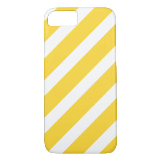 Trendy Yellow Stripes Pattern iPhone 7 case
